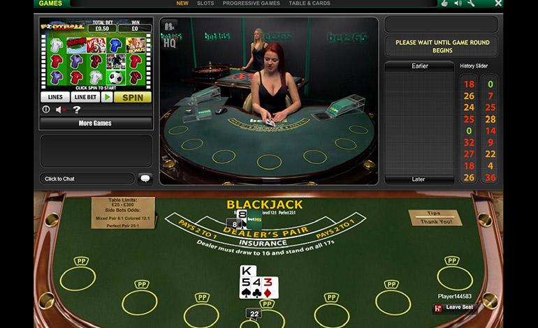 Bet365 Blackjack On Tablet