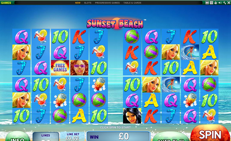 Bet365 Sunset Beach Spin Game