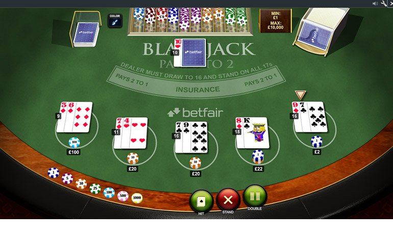 Betfair Blackjack Table
