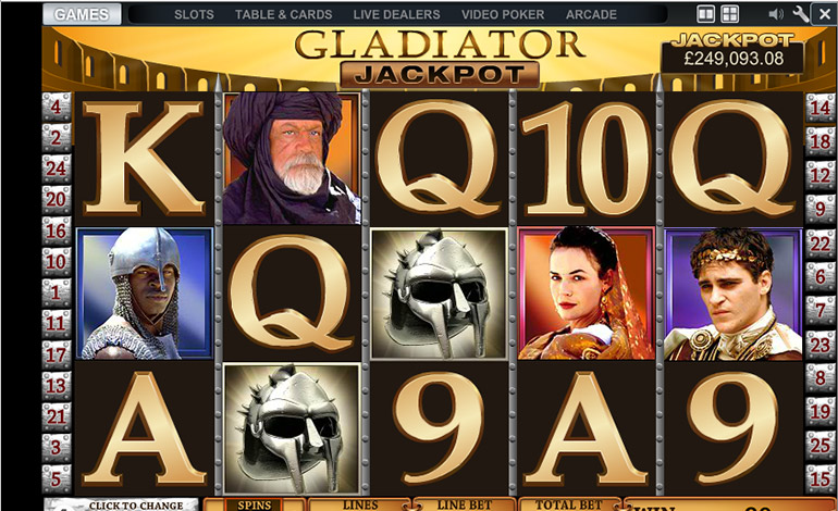 Betfair Gladiator Jackpot Game