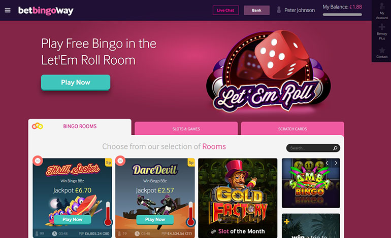 Betway Casino Bingo Option