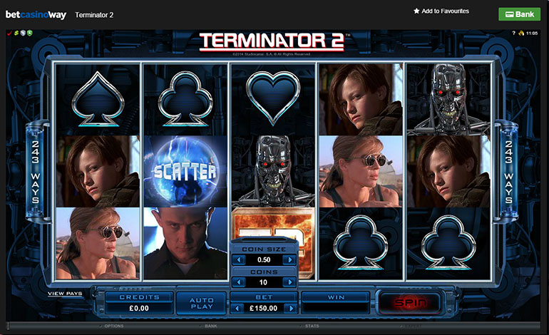 Betway Casino Terminator 2 Spins