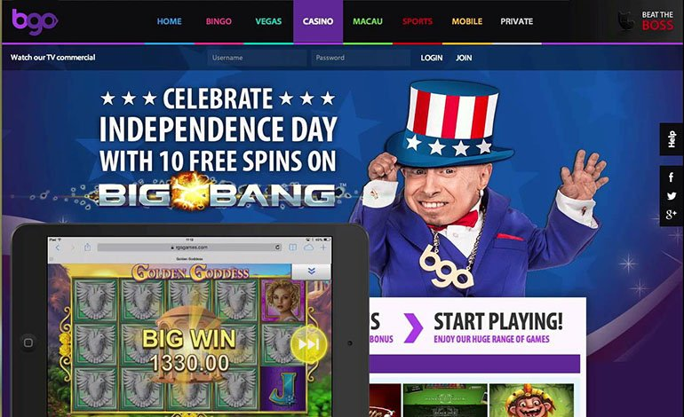 Bgo Casino Homepage