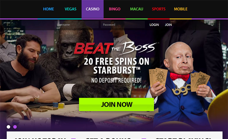 Bgo Casino Tablet Home Page