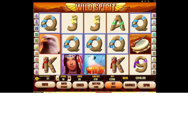 Eurogrand Wild Spirit Game