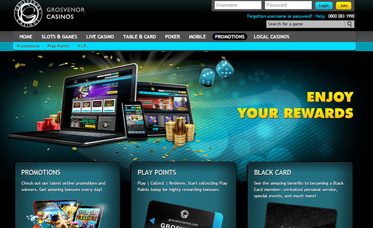 Grosvenor Casino Promotions Page