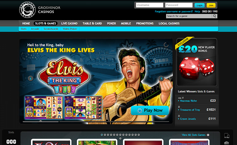 Grosvenor Casino Slots And Games Page