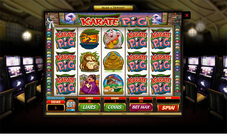 Hippodrome Casino Karate Pig Game