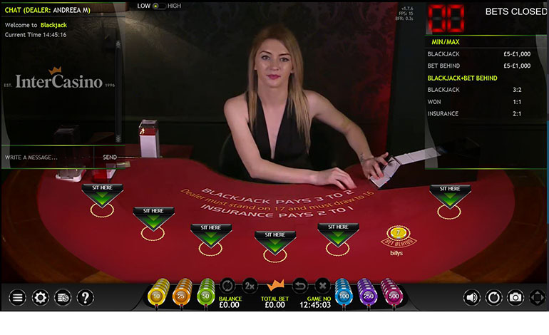 Intercasino Play Blackjack