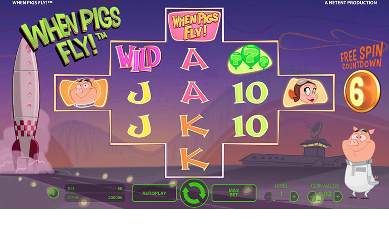 Intercasino When Wild Pigs Fly Game