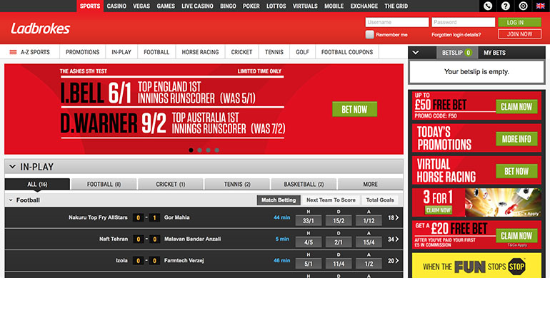 Ladbrokes Sports Betting