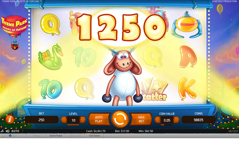 Party Casino Theme Park Game