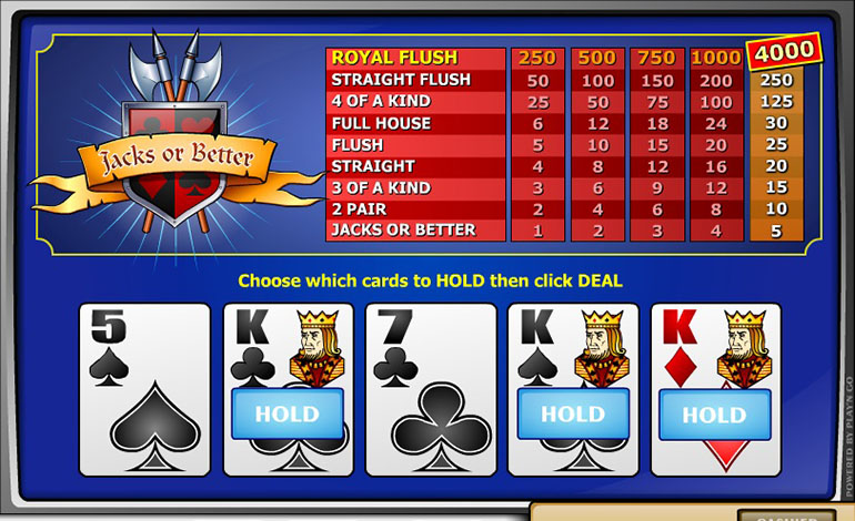 Spin Casino Jacks Or Better Game