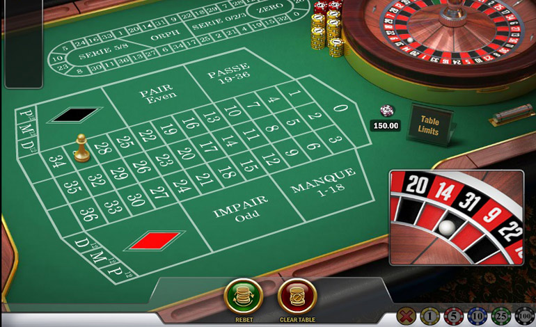 Spin Casino Roulette Table