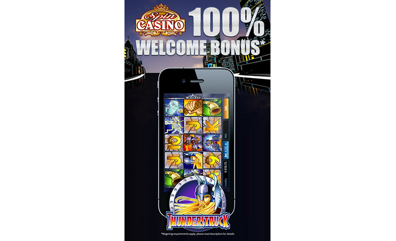 Spin Casino Welcome Bonus 100 Percent