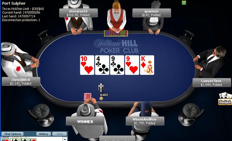 William Hill Tablet Poker Room